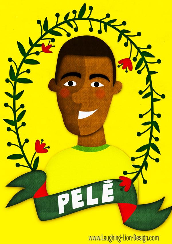 Pele illustration by Jennifer Farley