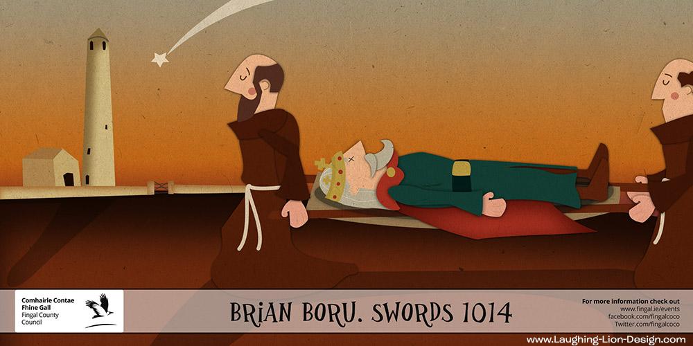 Death of Brian Boru - Vikings - Illustrated by Jennifer Farley