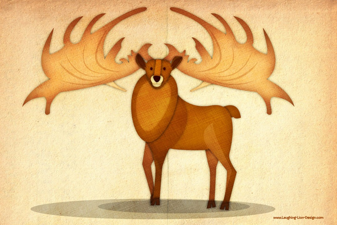 National Museum Deer illustration Jennnifer Farley