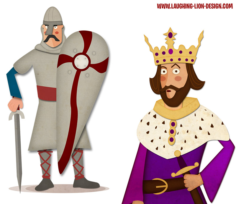 The Normans - Strongbow and Henry II illustrated by Jennifer Farley