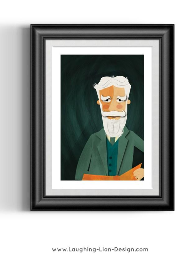 George Bernard Shaw Illustrated By Jennifer Farley