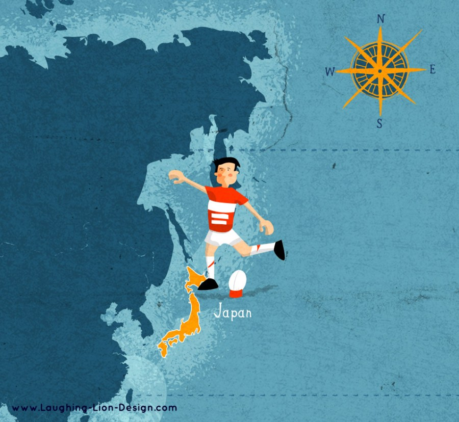 Rugby World Cup Illustrated By Jennifer Farley