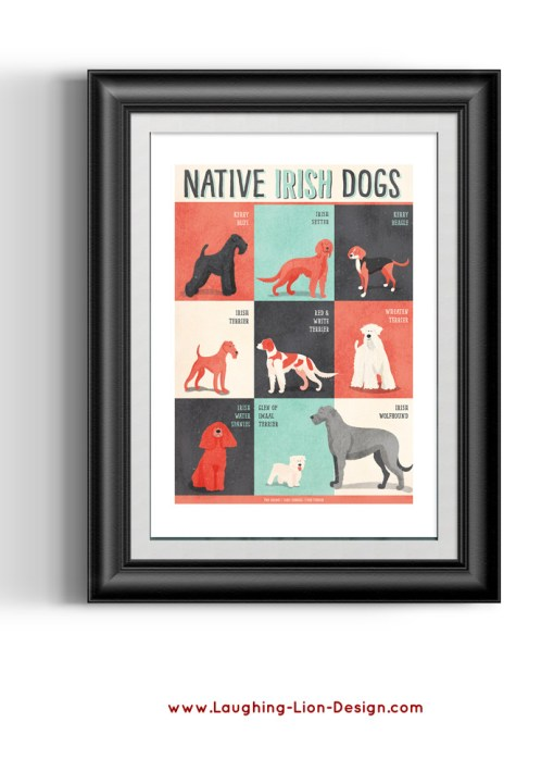 Dogs-Of-Ireland-Print-Jennifer-Farley-Black-Frame