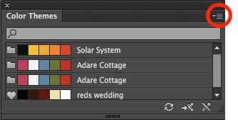 Illustrator Colour Themes Panel