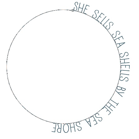 3 - Text added around the circular path