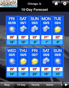 living in the ten day forecast