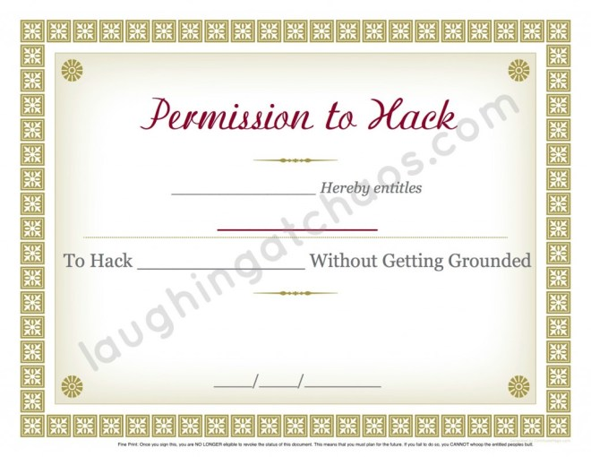 hacking permission slip edit