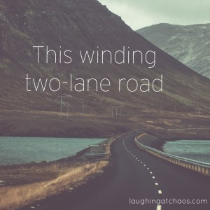 this winding two lane road