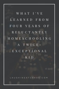 What I've learned from four years of reluctantly homeschooling a twice-exceptional kid