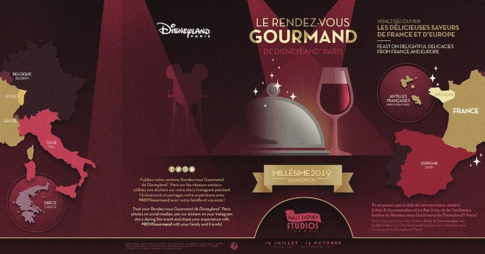 Disneyland Paris Reveals the Menus for Le Rendez-Vous Gourmand! 1