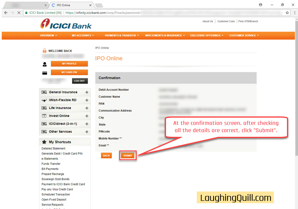How to apply for IPO via ICICI Bank NetBanking (ASBA
