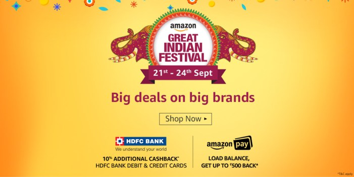 Amazon Great Indian Festival [21-24 September 2017]