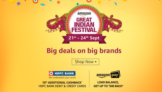 Amazon Great Indian Festival [21-24 September 2017]