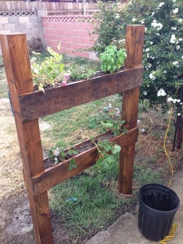 Unique and Easy Pallet Planter