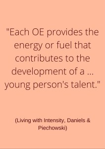 Each OE provides the energy or fuel that contributes to the development of a ... young person's talent.