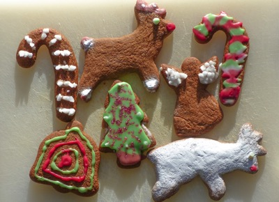 Christmas biscuits - Enjoying Christmas with an overexcitable family