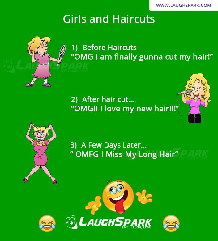 Girls And HairCuts Funny Thing Ever Seen