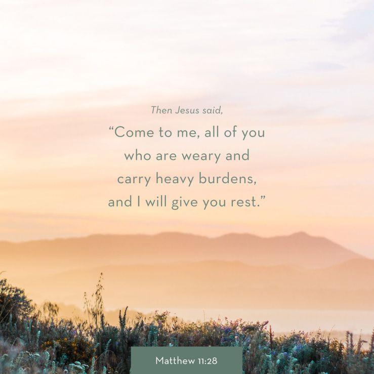 Matthew 11:28 NLT – LAUNCHING GROUND