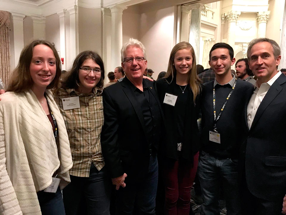 A group of passionate conservationists at WiLDSPEAK 2016 in Washington, DC: (Left to Right) Carolina Fraser, Jenaya Launstein, Steve Winter, Ashleigh Scully, David Rosenzweig, Joel Rosenzweig.