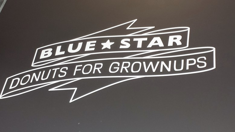 """Bold type that is easily readable and fits the brand of Blue Star Donuts."""
