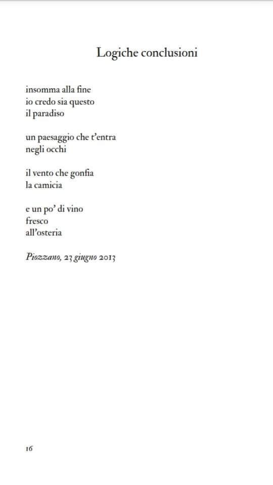 Poesia Logiche conclusioni