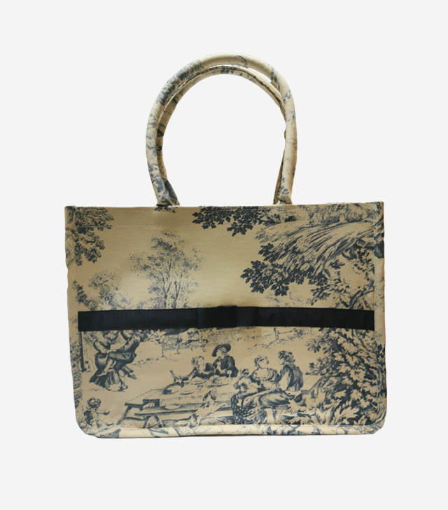 small toe bag toile de jouy