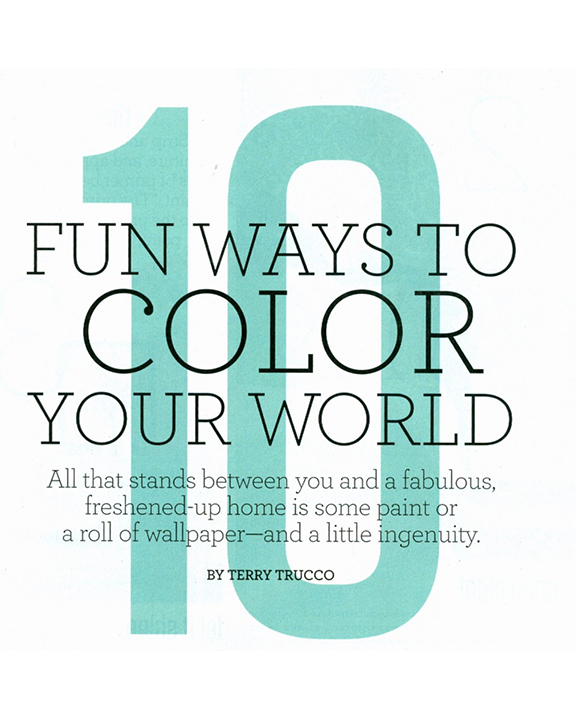 Fun ways to color your world