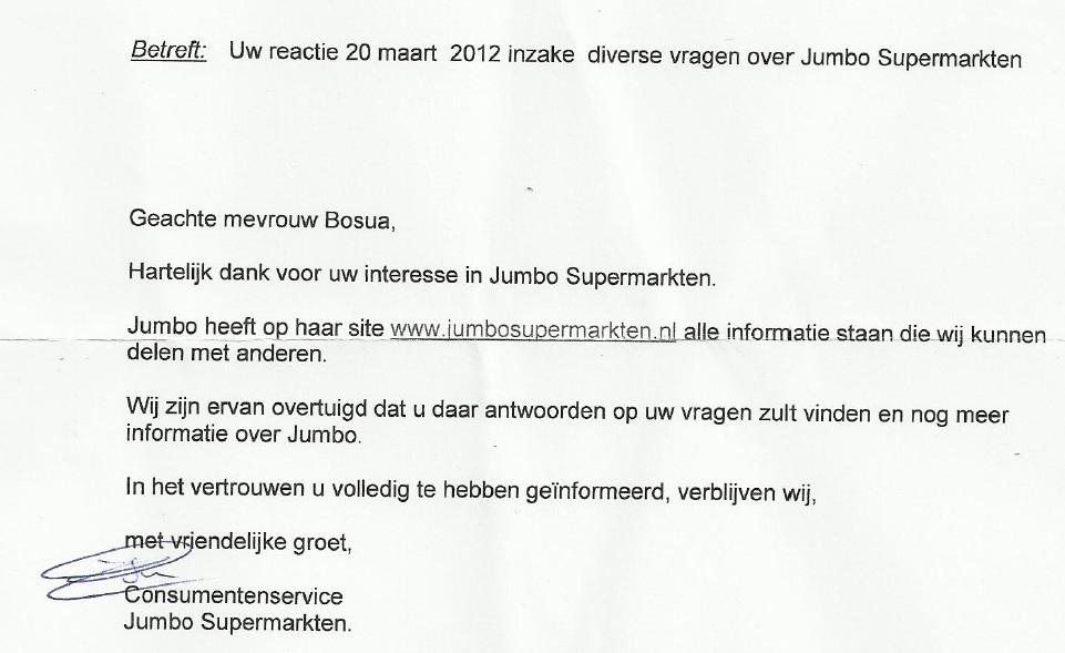 Laura's brieven: Jumbo en Bavaria | Laura denkt