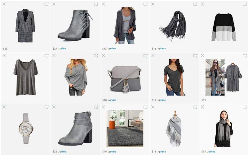 What We Want Wednesday Grayscale Amazon List Screenshot