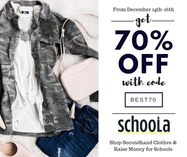 School Secondhand Online Thrifting Banner 70% Off Code