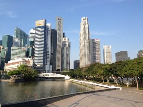 8am y Singapur amanece así