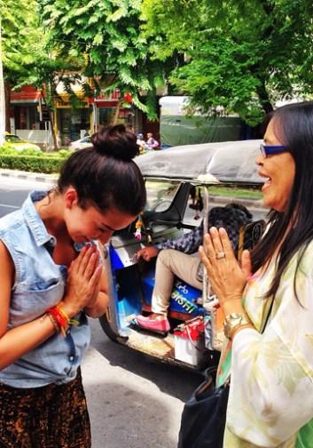 Agradeciendo a mi guía Cristina por el maravilloso tour en español que nos dio