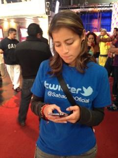 La responsable del twitter de Sabadazo!!... Es un amor