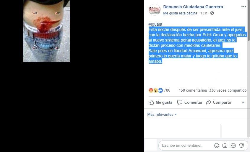 pagina facebook denuncia ciudadana
