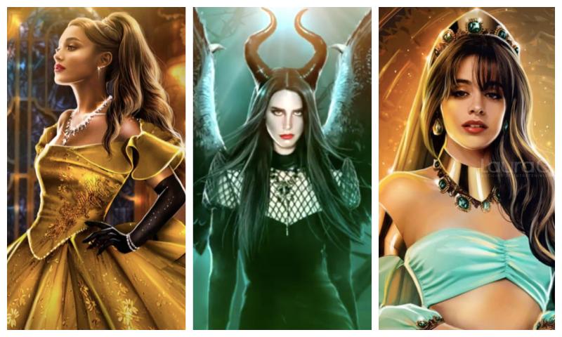 ilustraciones-princesas-disney-ariana-camila-lana