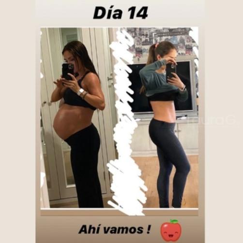 anahi-peso-embarazo-cuerpo-14-dias