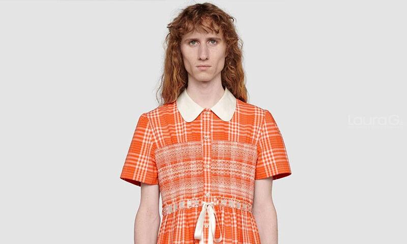 vestido hombre gucci