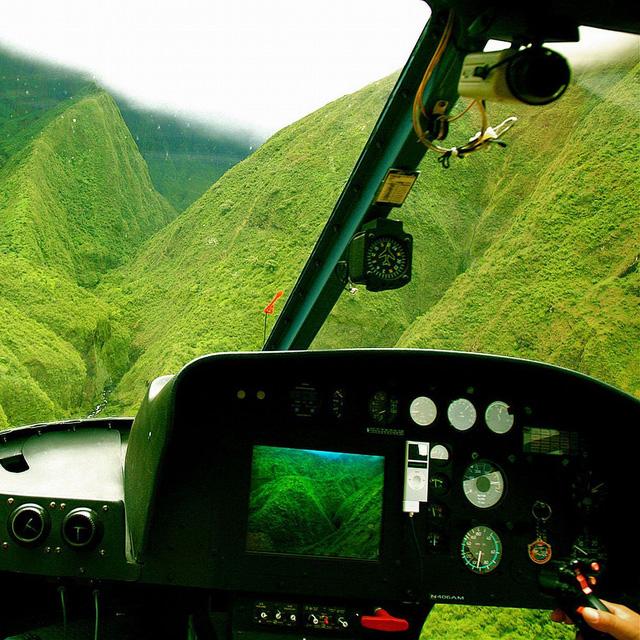 Wall of Tears Helicopter Tour, Puu Kukui, Hawaii