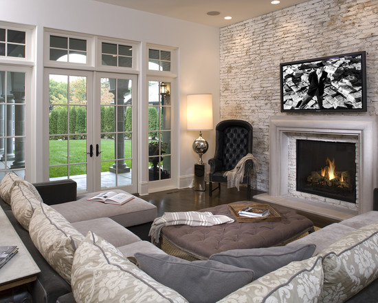 Hollywood Chic Living Room (Minneapolis)