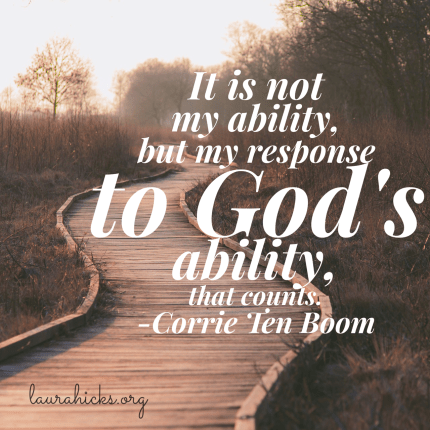 Are you trying to do it all in your own ability? Let go and let God.