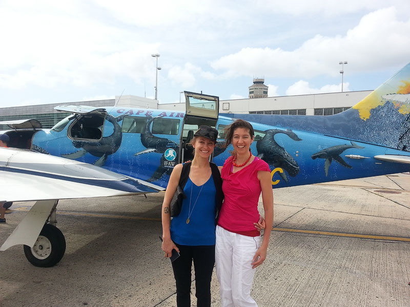 Flying home on the same 8 seater Humpback Whale plane with a Goddess Sister Naada Guerra. What an amazing adventure on Necker Island!
