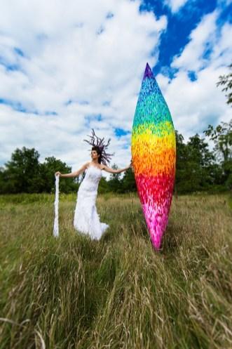 Laüra Hollick Rainbow Feather Canoe