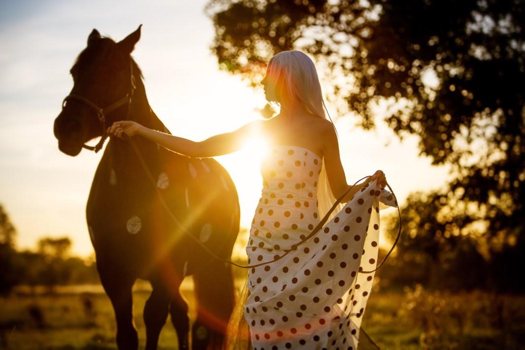 Laüra Hollick with Polka Dot Horse