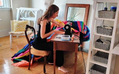Sewing up a storm of rainbows