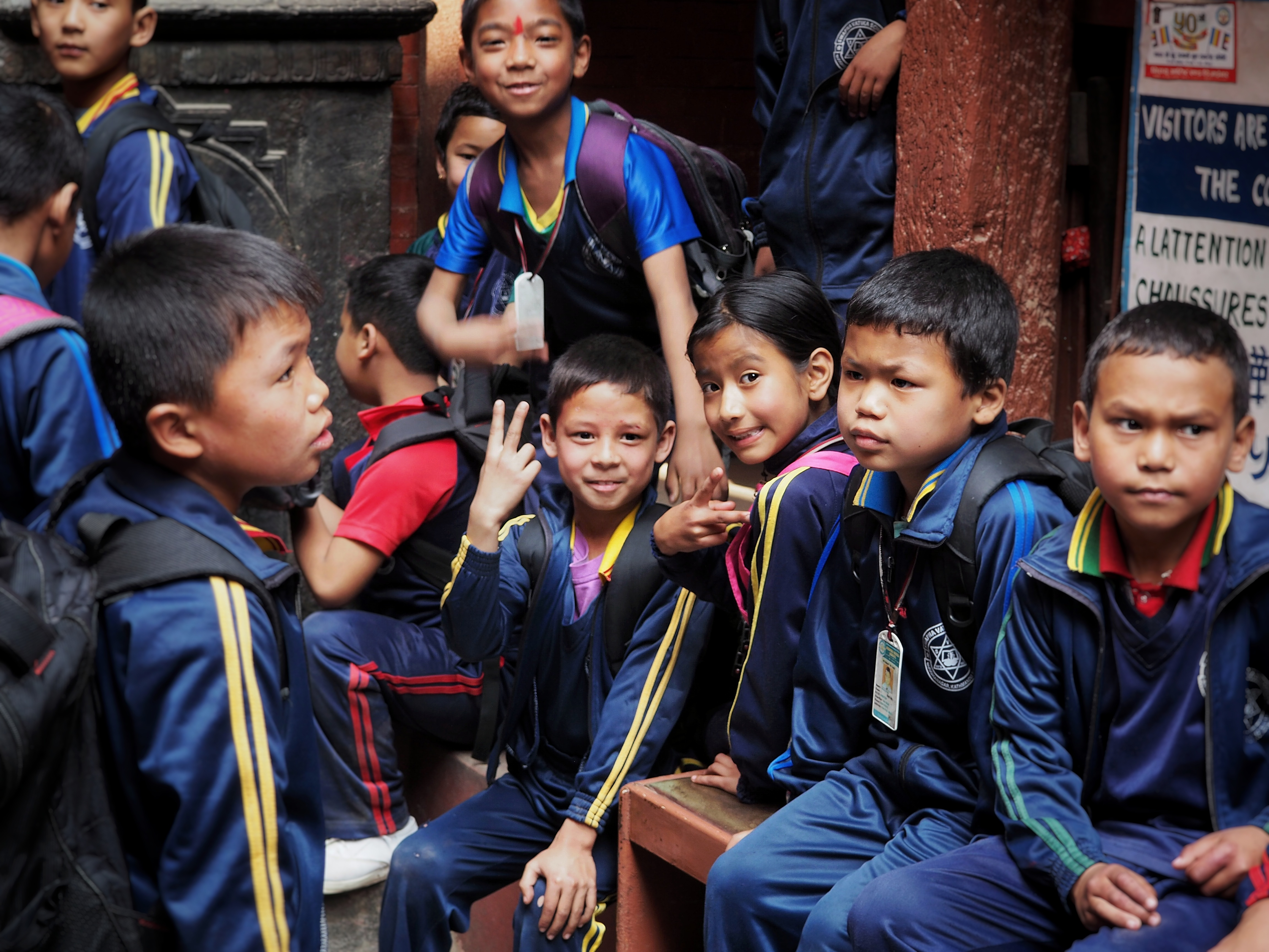 Patan, School, Class, Kids, Children
