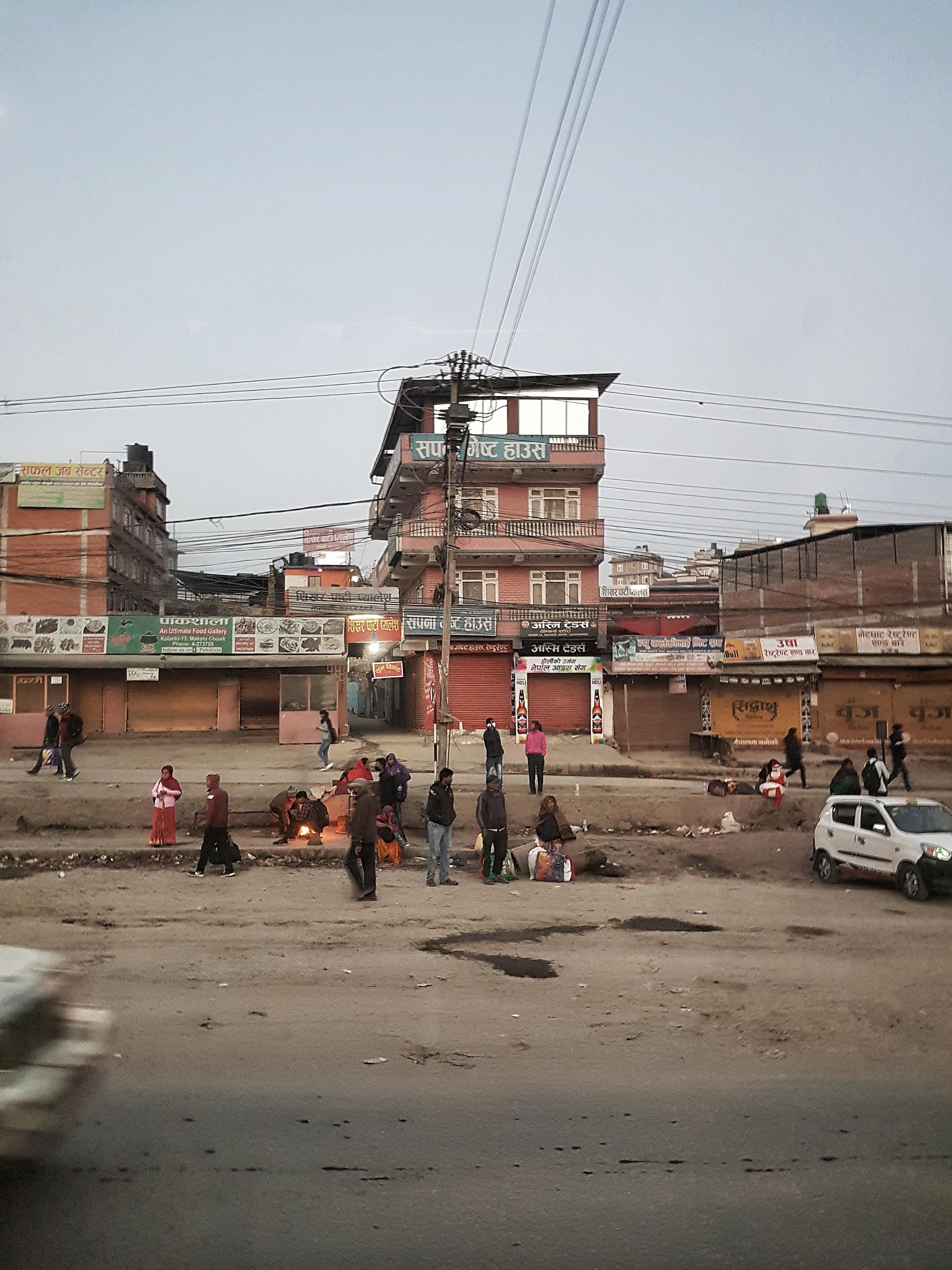 Breakfast, Nepal, bus ride, break
