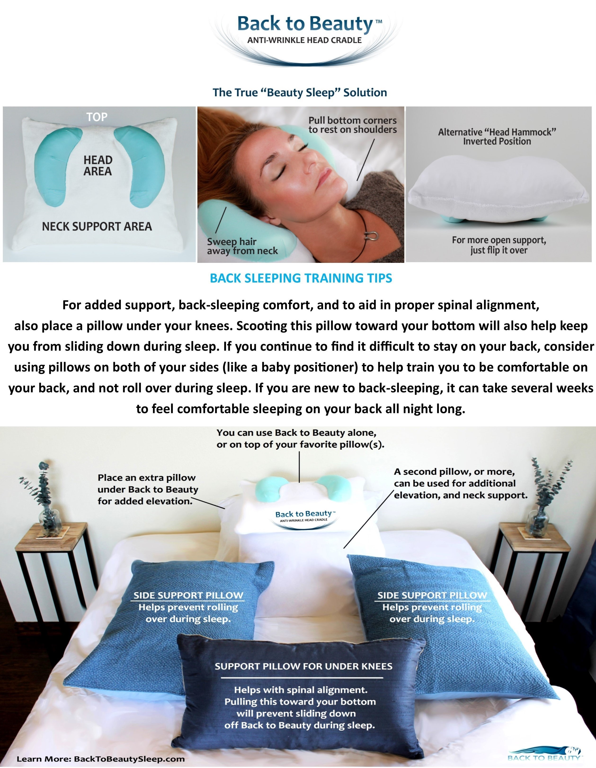 bed pillows back to beauty anti wrinkle