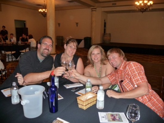 Eric, Me, Denise and Brad, wine tasting in Temecula.