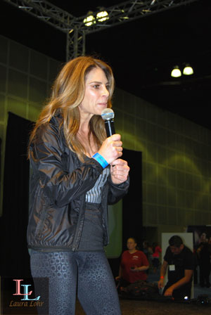 Jillian answering questions from the audience.