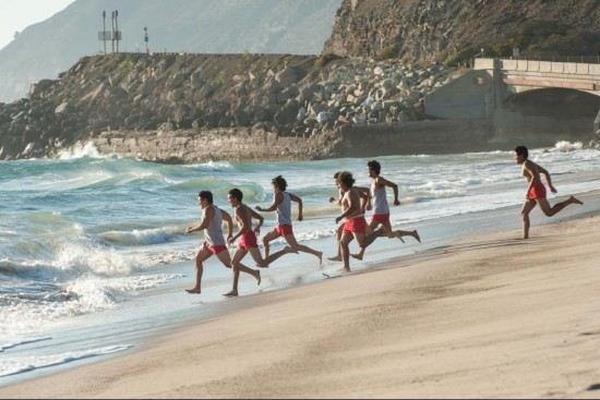 This was one of my favorite scenes, where Coach White takes the boys to see the ocean for the first time, after they qualify for CIF. *SOB*